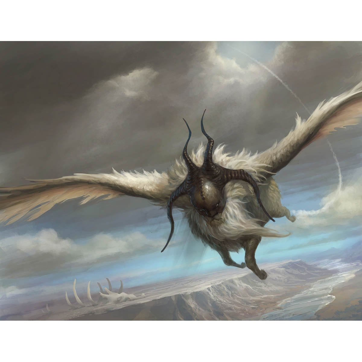 Venerable Lammasu Print - Print - Original Magic Art - Accessories for Magic the Gathering and other card games
