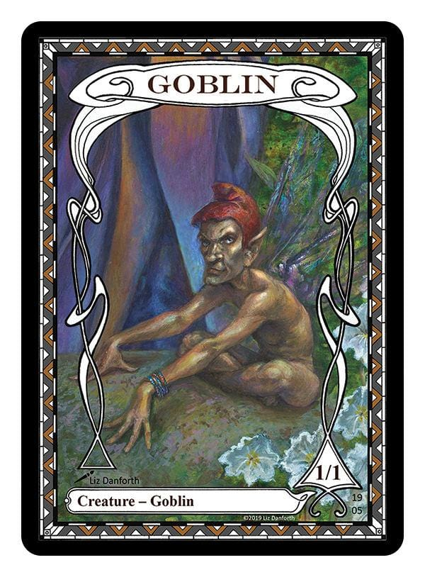 Goblin Token (1/1) by Liz Danforth - Token - Original Magic Art - Accessories for Magic the Gathering and other card games