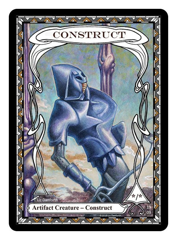 Construct Token (*/*) by Liz Danforth - Token - Original Magic Art - Accessories for Magic the Gathering and other card games