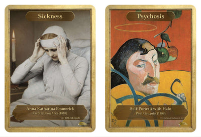 Sickness / Psychosis Double Sided Token - Token - Original Magic Art - Accessories for Magic the Gathering and other card games