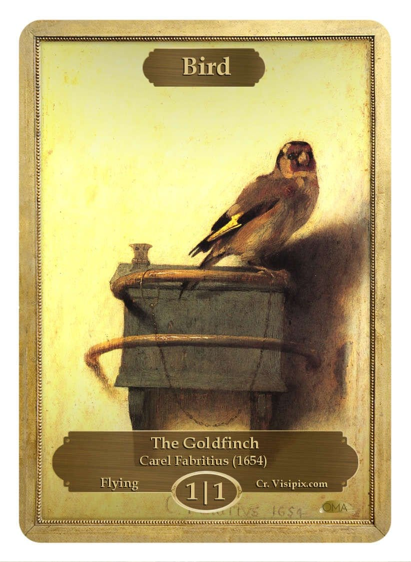 Bird Token (1/1) by Carel Fabritius - Token - Original Magic Art - Accessories for Magic the Gathering and other card games