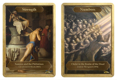 Strength / Numbers Token by Carl Heinrich Bloch and Joakim Skovgaard - Token - Original Magic Art - Accessories for Magic the Gathering and other card games