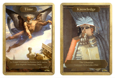Time / Knowledge Token by Jean-Baptiste Mauzaisse and Giuseppe Arcimboldo - Token - Original Magic Art - Accessories for Magic the Gathering and other card games
