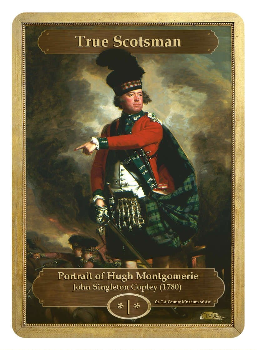 True Scotsman Token (*/*) by John Singleton Copley