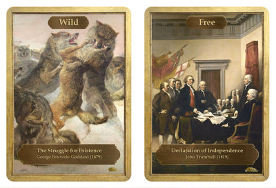 Wild / Free Double Sided Token - Token - Original Magic Art - Accessories for Magic the Gathering and other card games