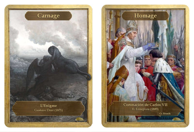 Carnage / Homage Double Sided Token - Token - Original Magic Art - Accessories for Magic the Gathering and other card games