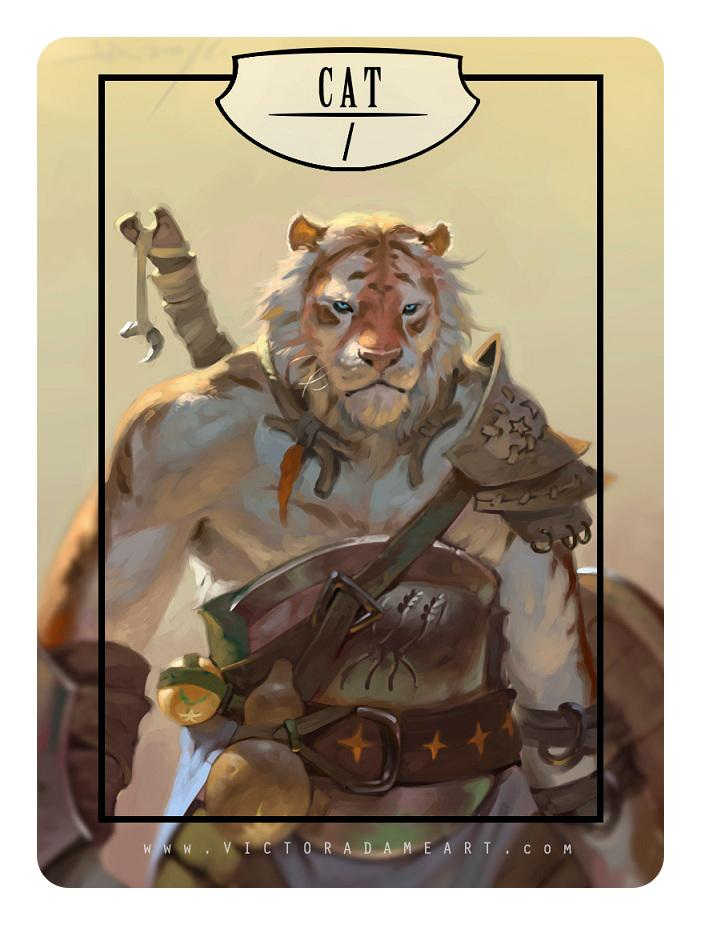 Cat Token by Victor Adame Minguez - Token - Original Magic Art - Accessories for Magic the Gathering and other card games