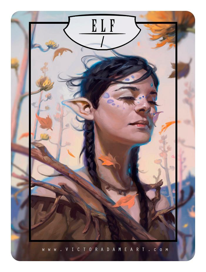 Elf Token by Victor Adame Minguez - Token - Original Magic Art - Accessories for Magic the Gathering and other card games