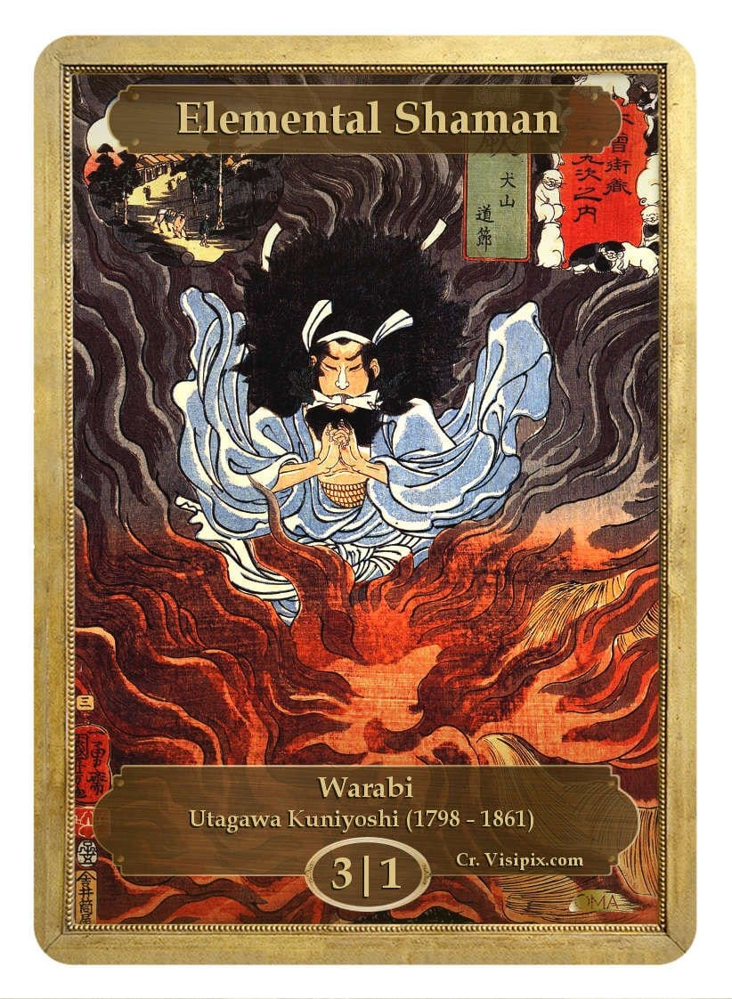Elemental Shaman Token (3/1) by Utagawa Kuniyoshi - Token - Original Magic Art - Accessories for Magic the Gathering and other card games