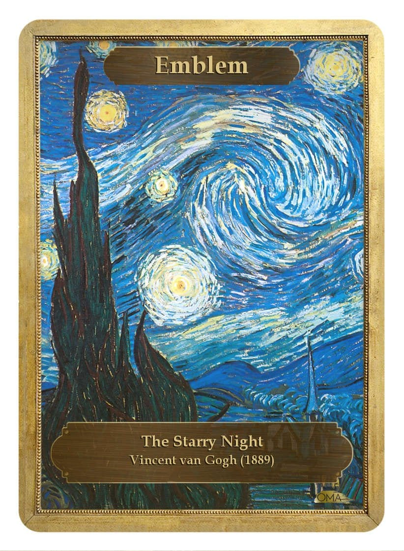 Emblem Token by Vincent van Gogh - Token - Original Magic Art - Accessories for Magic the Gathering and other card games