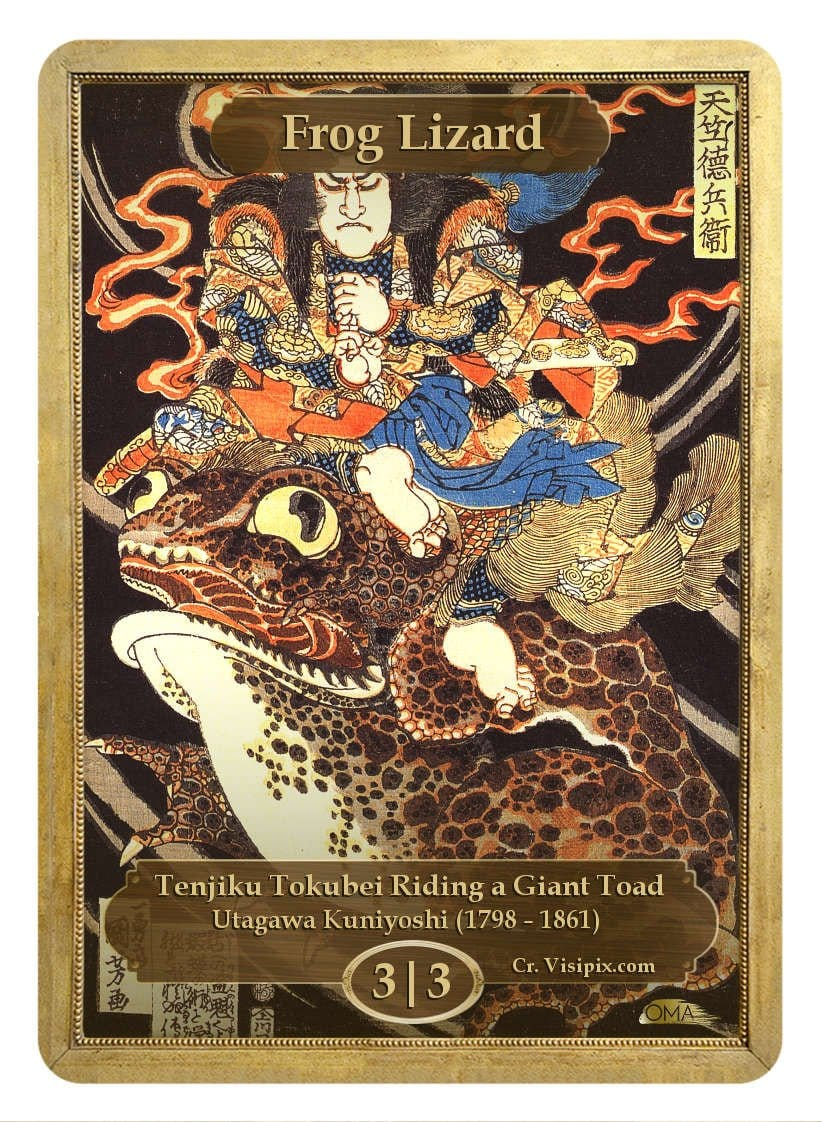 Frog Lizard Token (3/3) by Utagawa Kuniyoshi - Token - Original Magic Art - Accessories for Magic the Gathering and other card games