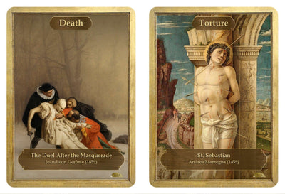Death / Torture Double Sided Token - Token - Original Magic Art - Accessories for Magic the Gathering and other card games