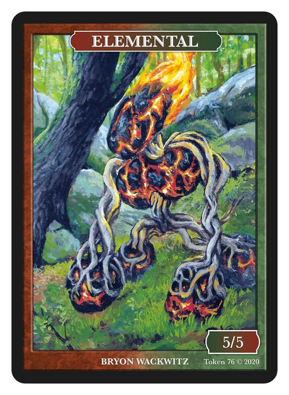 Elemental Token (5/5) by Bryon Wackwitz