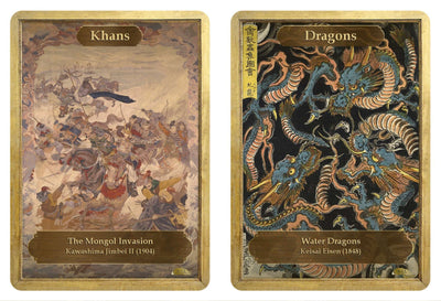 Khans / Dragon Double Sided Token - Token - Original Magic Art - Accessories for Magic the Gathering and other card games