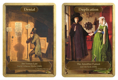 Denial / Duplication Double Sided Token - Token - Original Magic Art - Accessories for Magic the Gathering and other card games