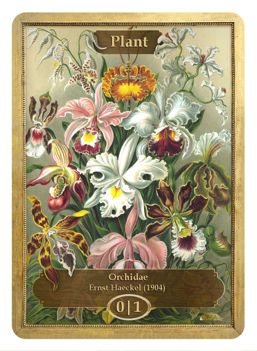Plant Token (0/1) by Ernst Haeckel - Token - Original Magic Art - Accessories for Magic the Gathering and other card games