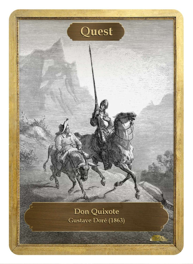 Quest Counter by Gustave Doré - Token - Original Magic Art - Accessories for Magic the Gathering and other card games