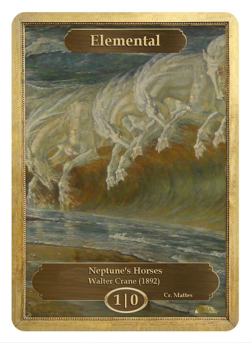 Elemental Token (1/0) by Walter Crane