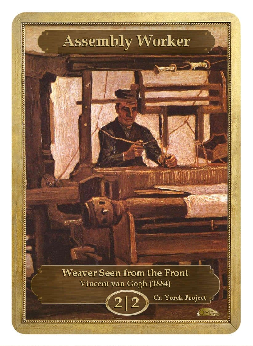 Assembly Worker Token (2/2) by Vincent van Gogh - Token - Original Magic Art - Accessories for Magic the Gathering and other card games