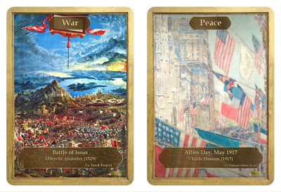 War / Peace Token by Albrecht Altdorfer and Childe Hassam - Token - Original Magic Art - Accessories for Magic the Gathering and other card games
