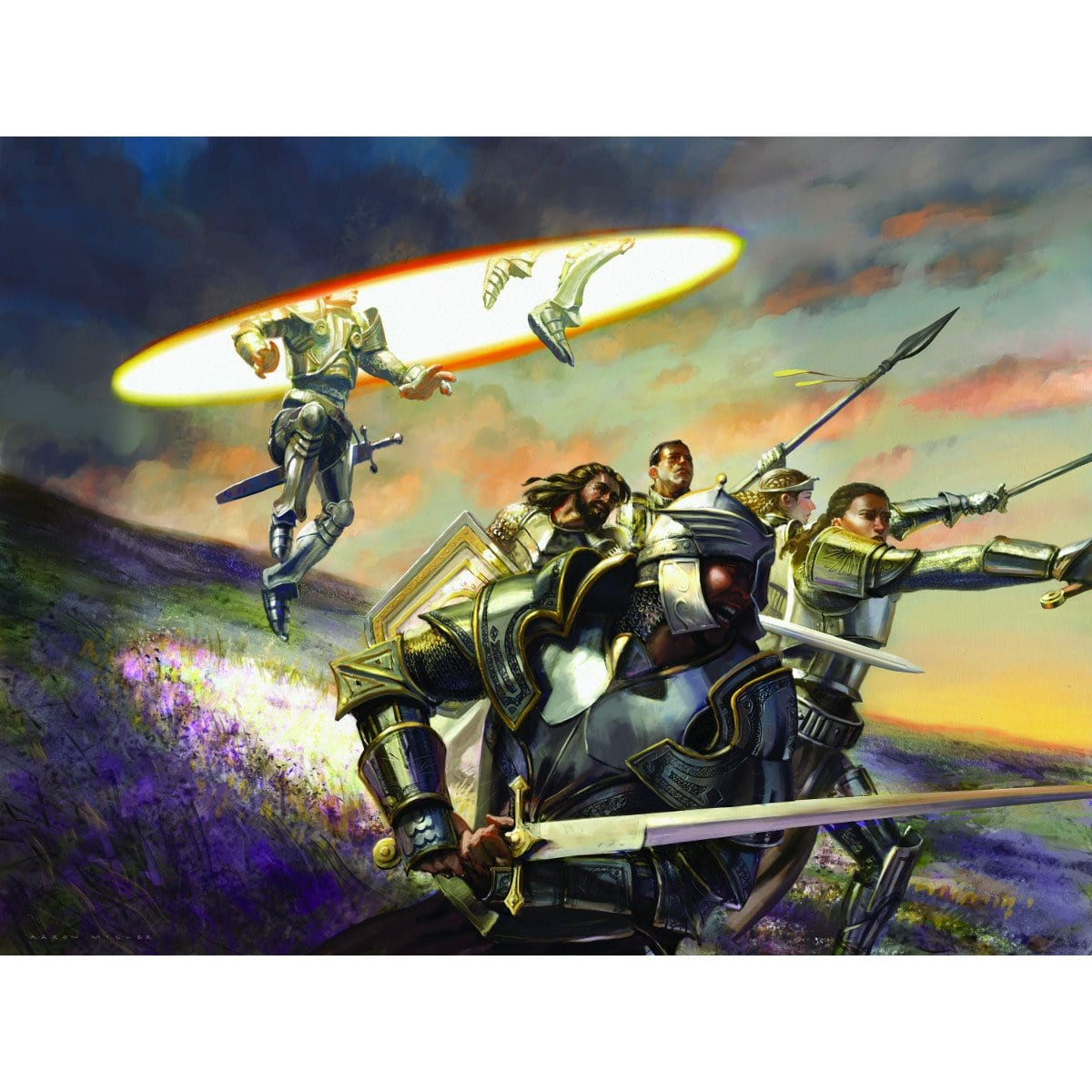 Deploy to the Front Print - Print - Original Magic Art - Accessories for Magic the Gathering and other card games