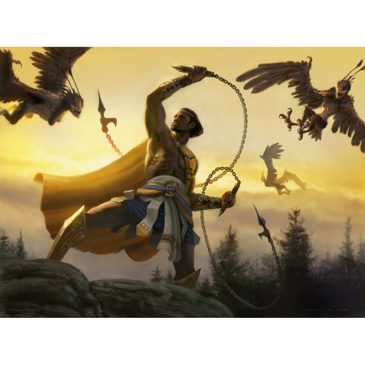 Fabled Hero Print - Print - Original Magic Art - Accessories for Magic the Gathering and other card games
