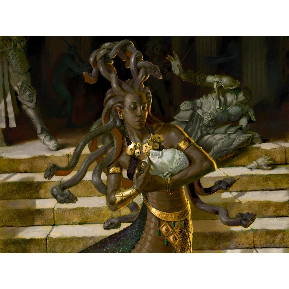 Keepsake Gorgon Print - Print - Original Magic Art - Accessories for Magic the Gathering and other card games