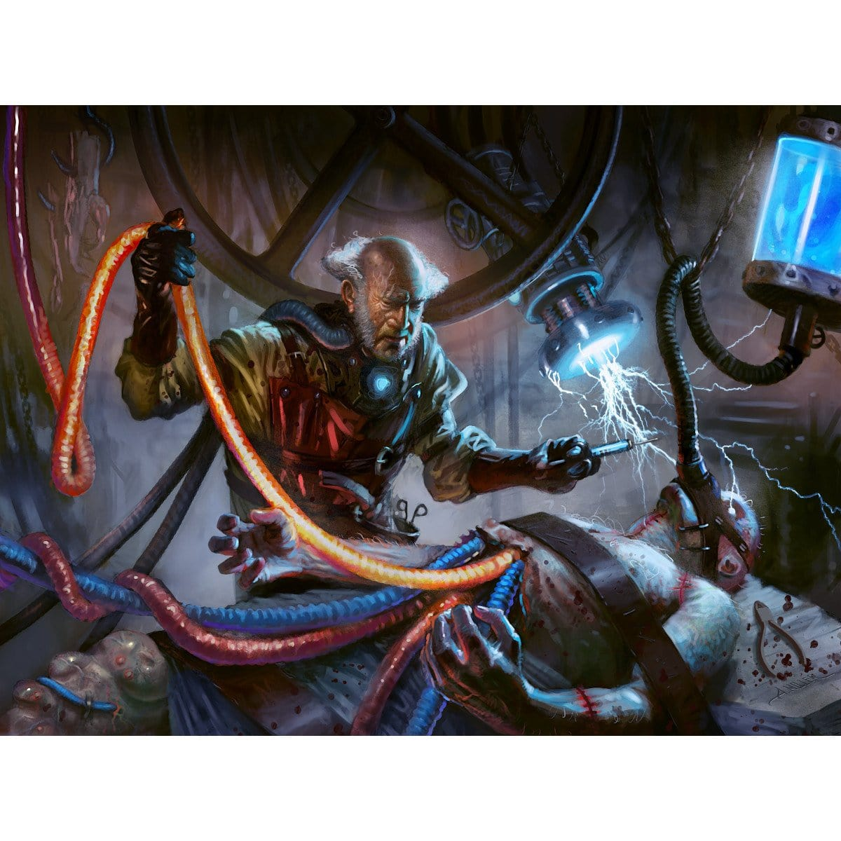Ludevic, Necro-Alchemist Print - Print - Original Magic Art - Accessories for Magic the Gathering and other card games