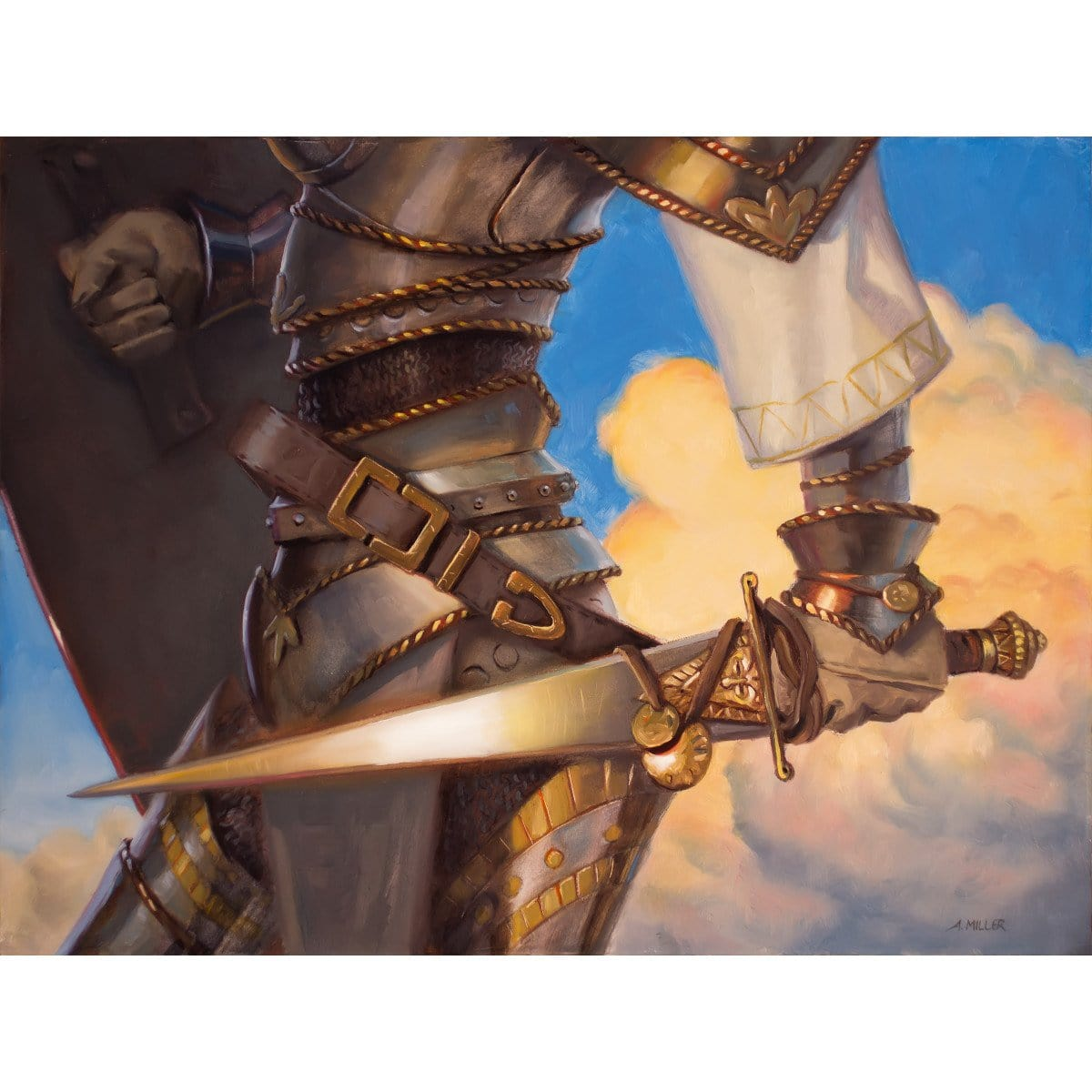 Veteran's Sidearm Print - Print - Original Magic Art - Accessories for Magic the Gathering and other card games