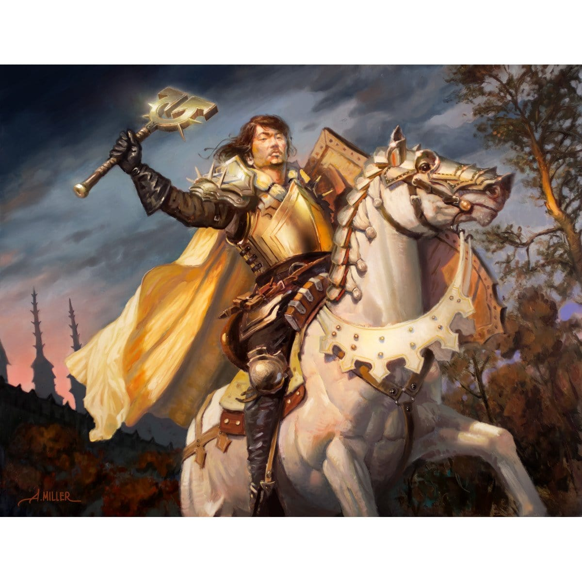 Faithbearer Paladin Print - Print - Original Magic Art - Accessories for Magic the Gathering and other card games