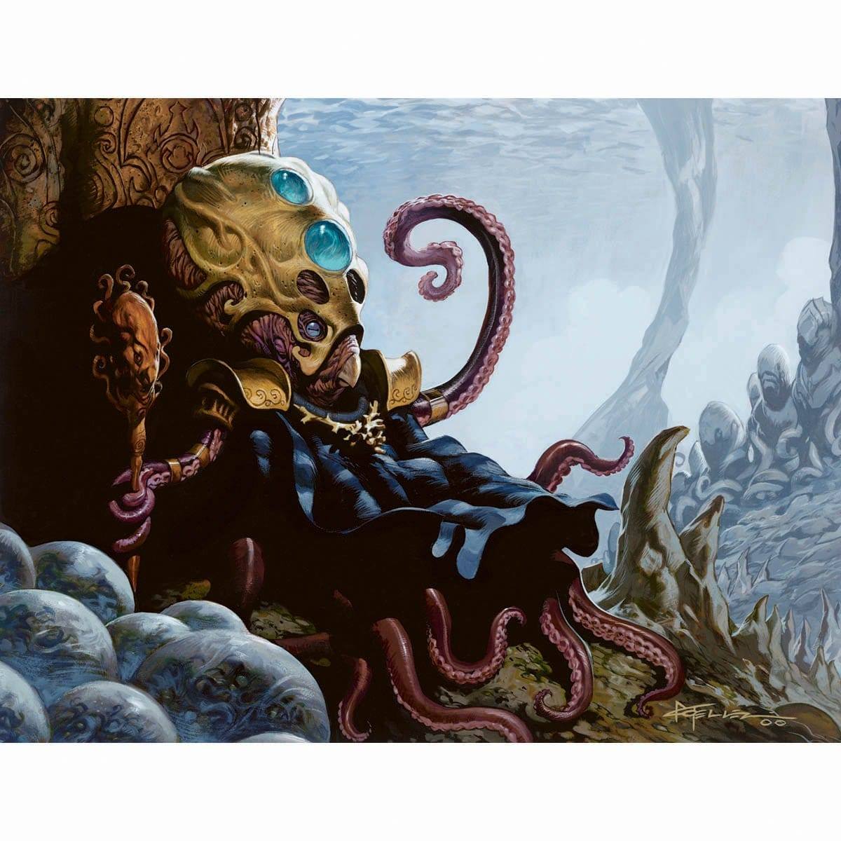 Aboshan, Cephalid Emporer Print - Print - Original Magic Art - Accessories for Magic the Gathering and other card games