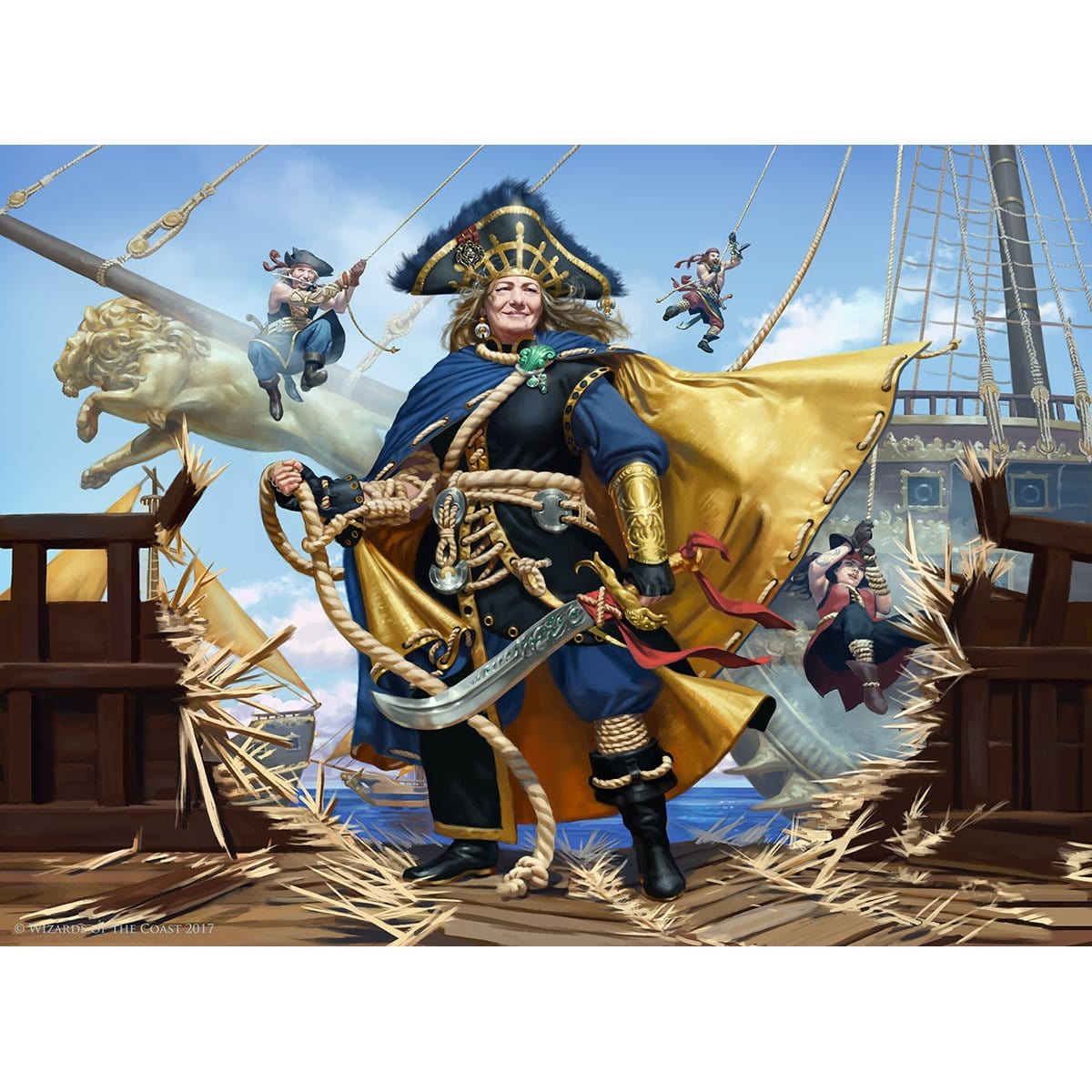 Admiral Beckett Brass Print - Print - Original Magic Art - Accessories for Magic the Gathering and other card games