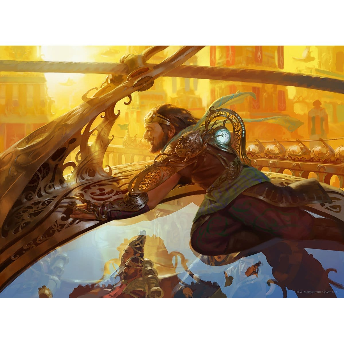 Aether Chaser Print - Print - Original Magic Art - Accessories for Magic the Gathering and other card games