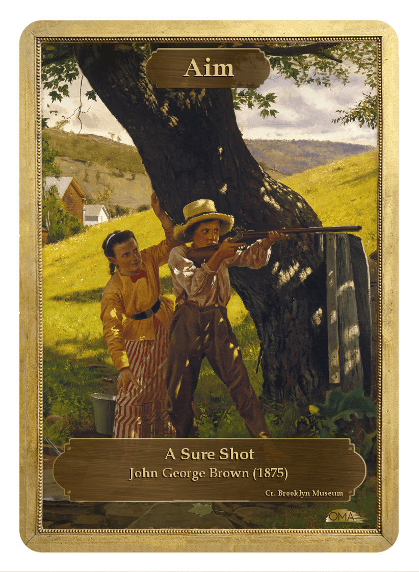 Aim Counter by John George Brown - Token - Original Magic Art - Accessories for Magic the Gathering and other card games