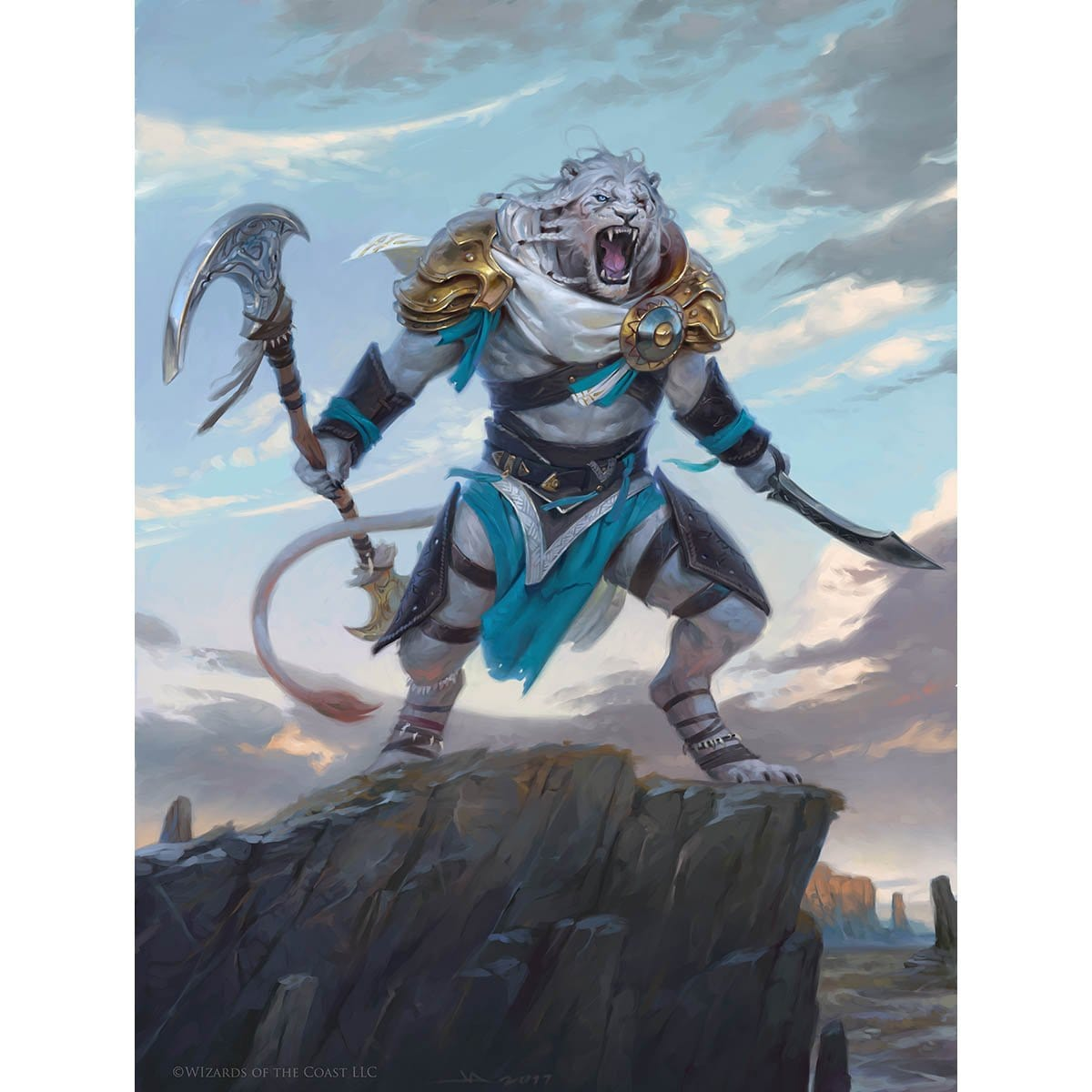 Ajani, Adversary of Tyrants Print - Print - Original Magic Art - Accessories for Magic the Gathering and other card games