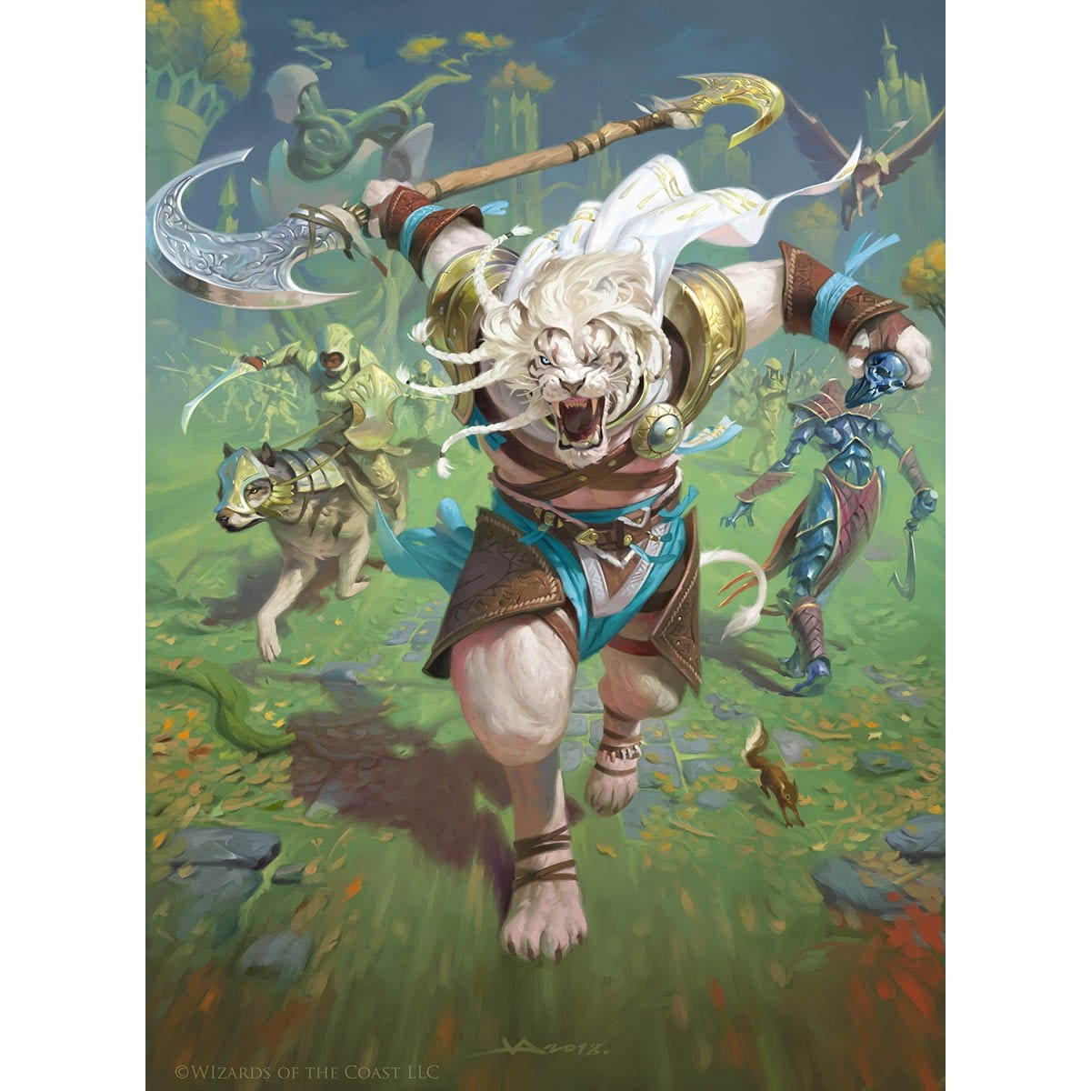 Ajani, the Greathearted Print - Print - Original Magic Art - Accessories for Magic the Gathering and other card games
