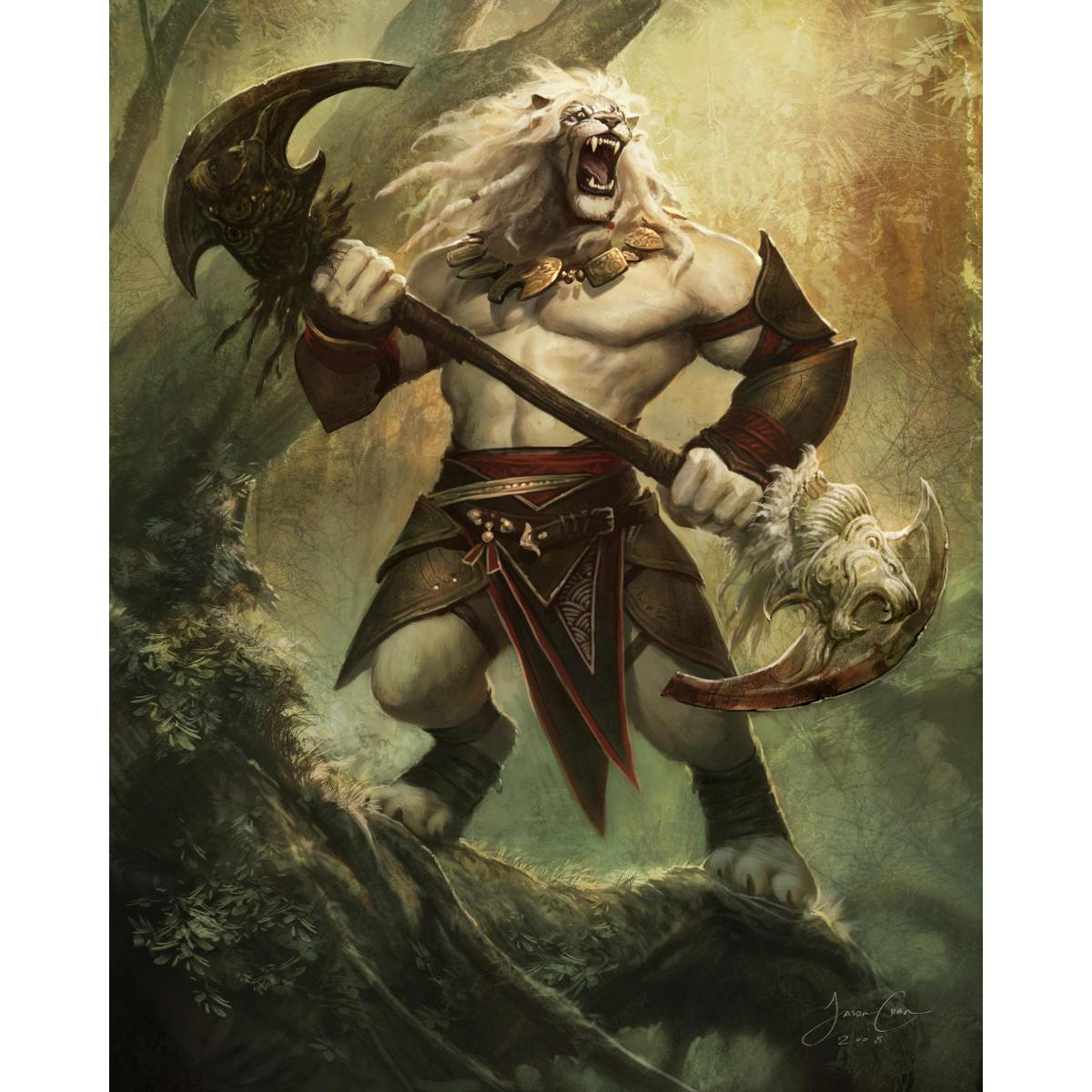 Ajani Vengeant Print - Print - Original Magic Art - Accessories for Magic the Gathering and other card games