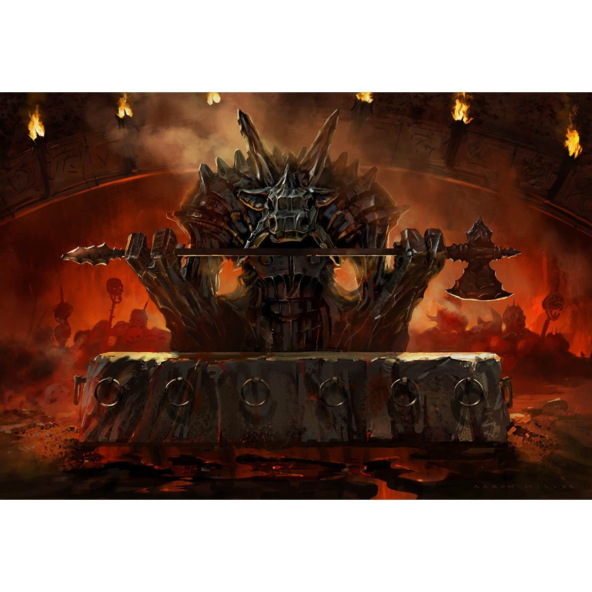 Altar of Mogis Print - Print - Original Magic Art - Accessories for Magic the Gathering and other card games