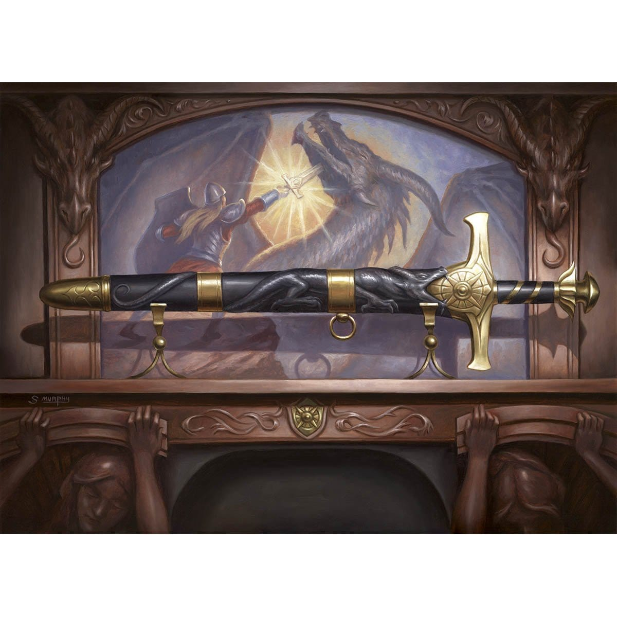 Ancestral Blade Print - Print - Original Magic Art - Accessories for Magic the Gathering and other card games