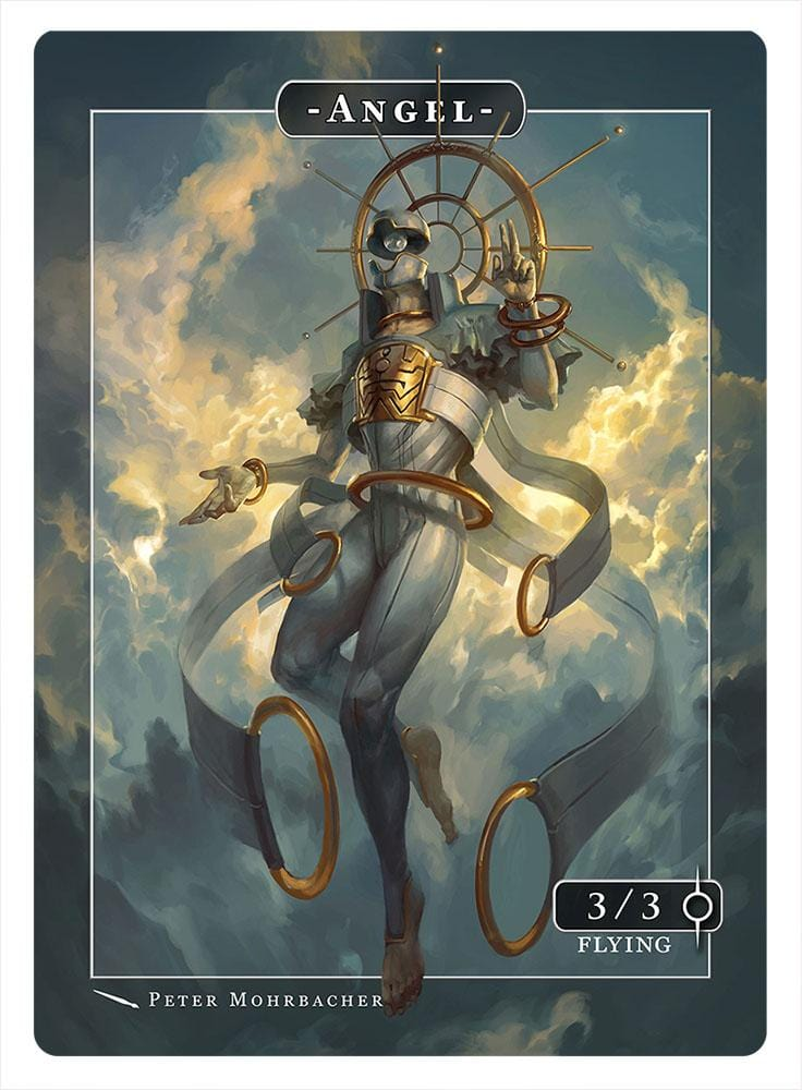Angel Token (3-3 - Flying) by Peter Mohrbacher