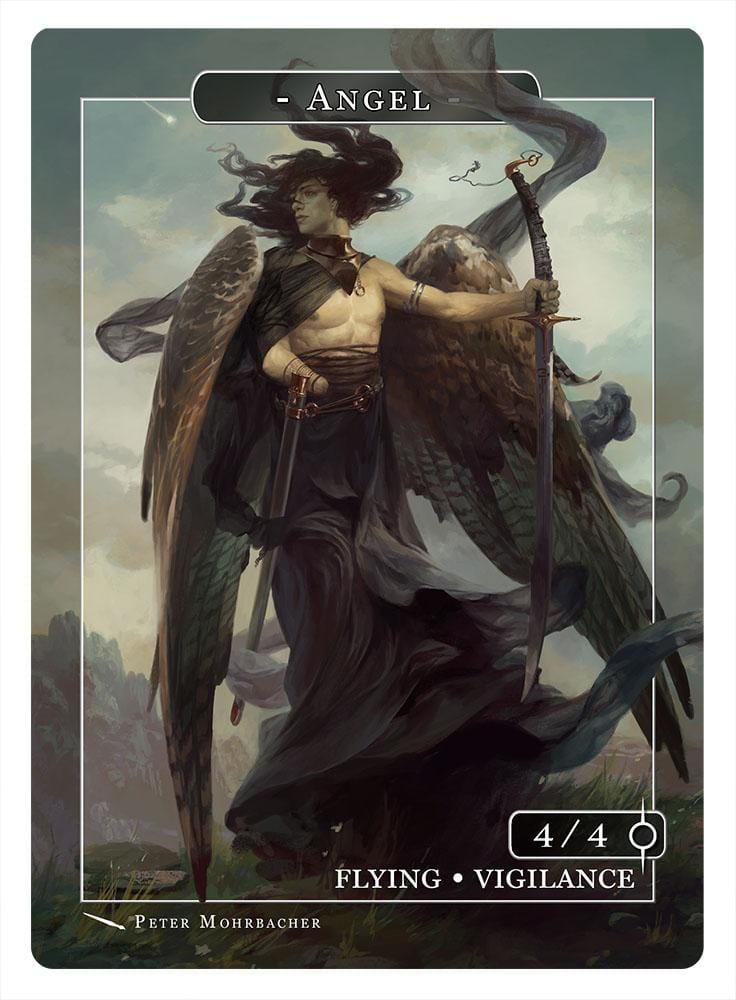 Angel Token (4-4 - Flying, Vigilance) by Peter Mohrbacher