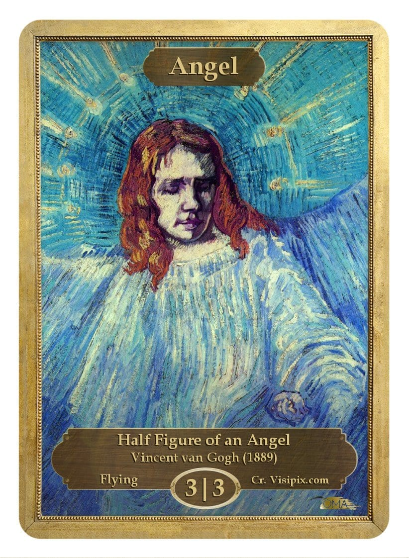 Angel Token (3/3) by Vincent van Gogh - Token - Original Magic Art - Accessories for Magic the Gathering and other card games