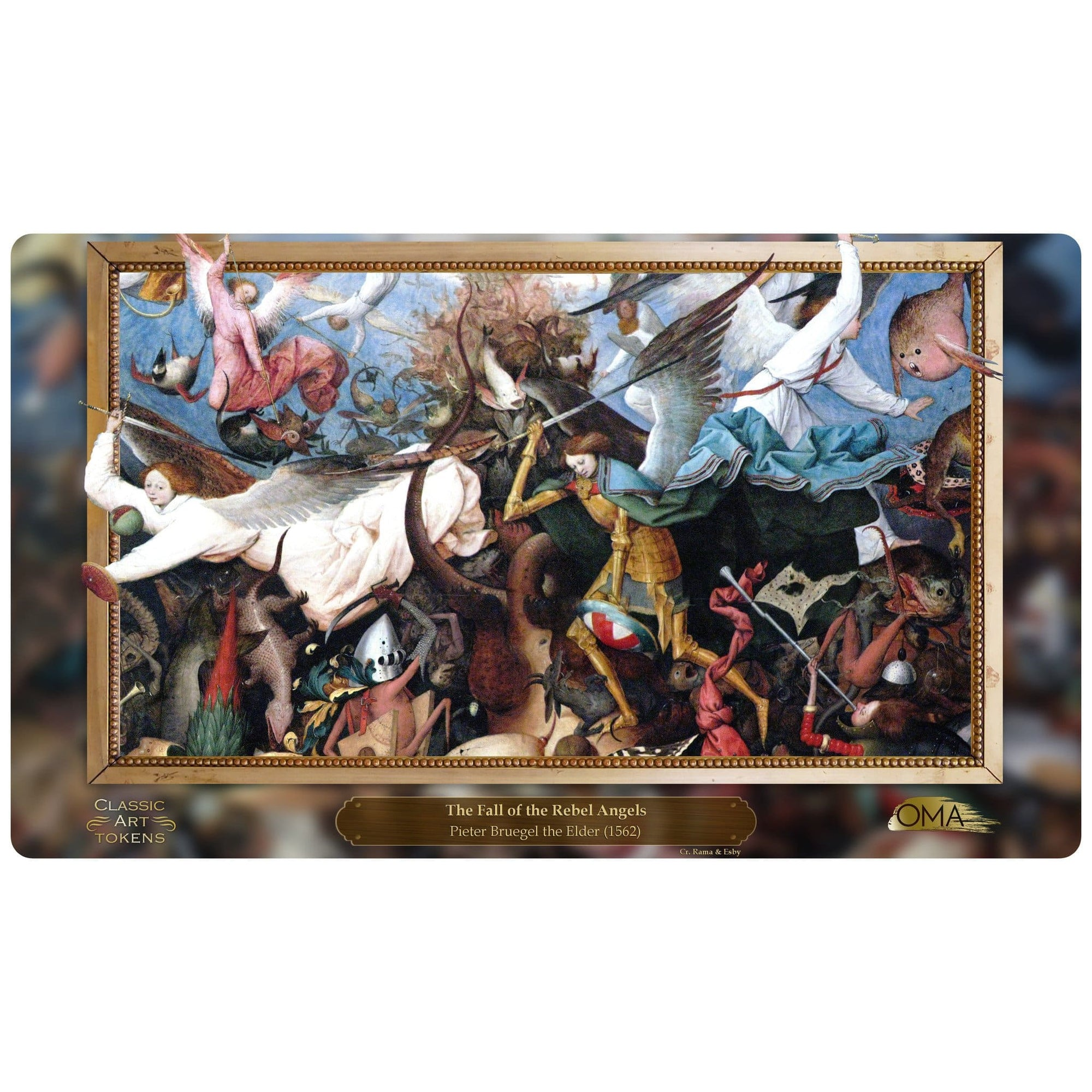 Angel Playmat by Pieter Bruegel the Elder - Playmat - Original Magic Art - Accessories for Magic the Gathering and other card games