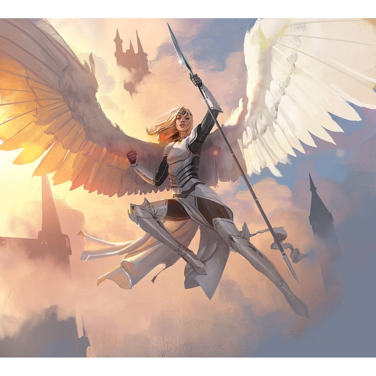 Angel Token Print - Print - Original Magic Art - Accessories for Magic the Gathering and other card games