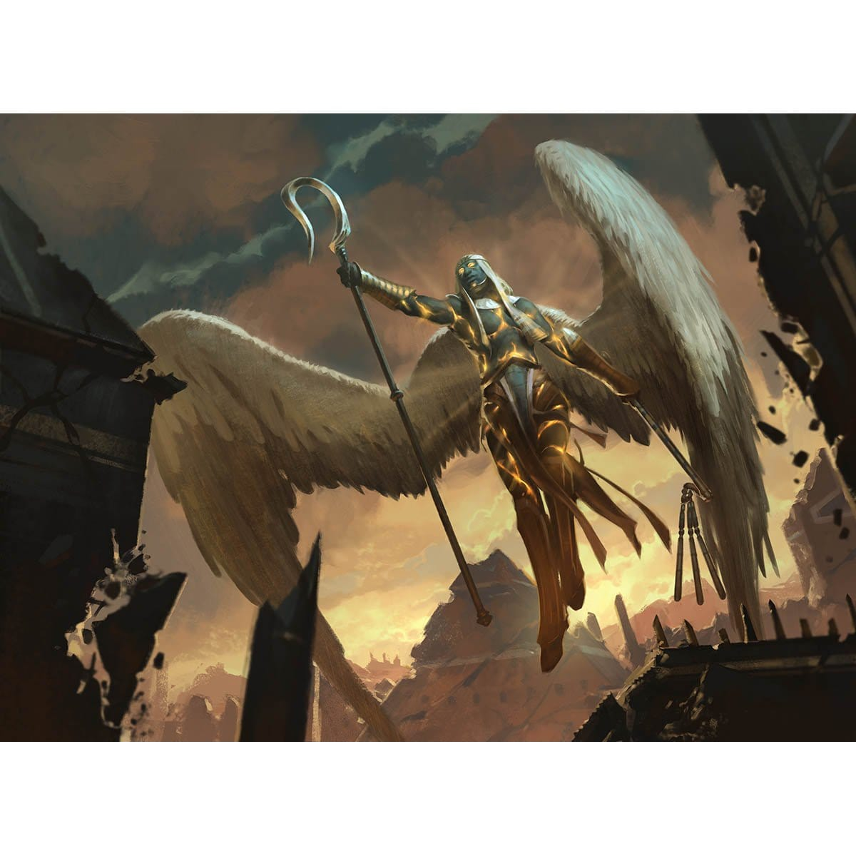 Angel of Condemnation Print - Print - Original Magic Art - Accessories for Magic the Gathering and other card games