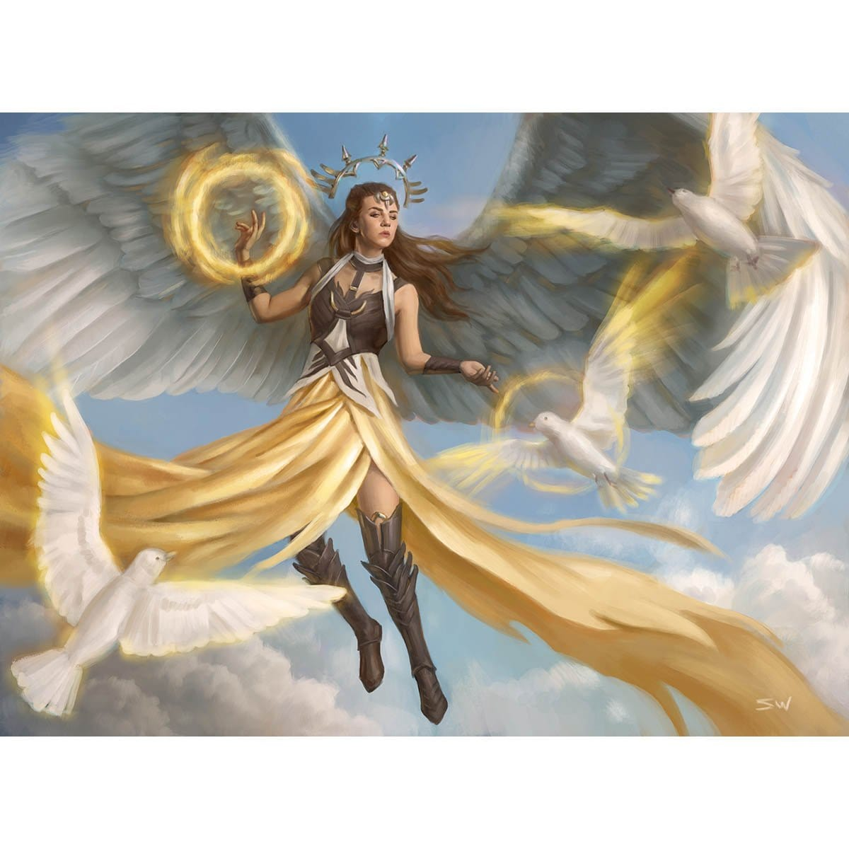 Angelic Guardian Print - Print - Original Magic Art - Accessories for Magic the Gathering and other card games