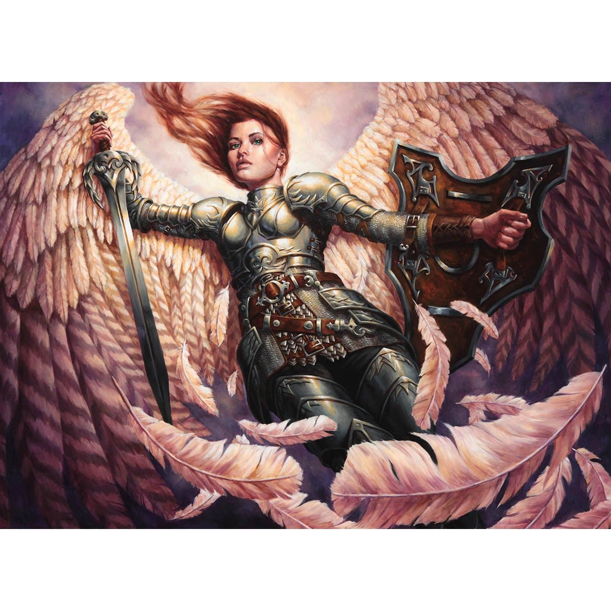 Angelic Accord Print - Print - Original Magic Art - Accessories for Magic the Gathering and other card games
