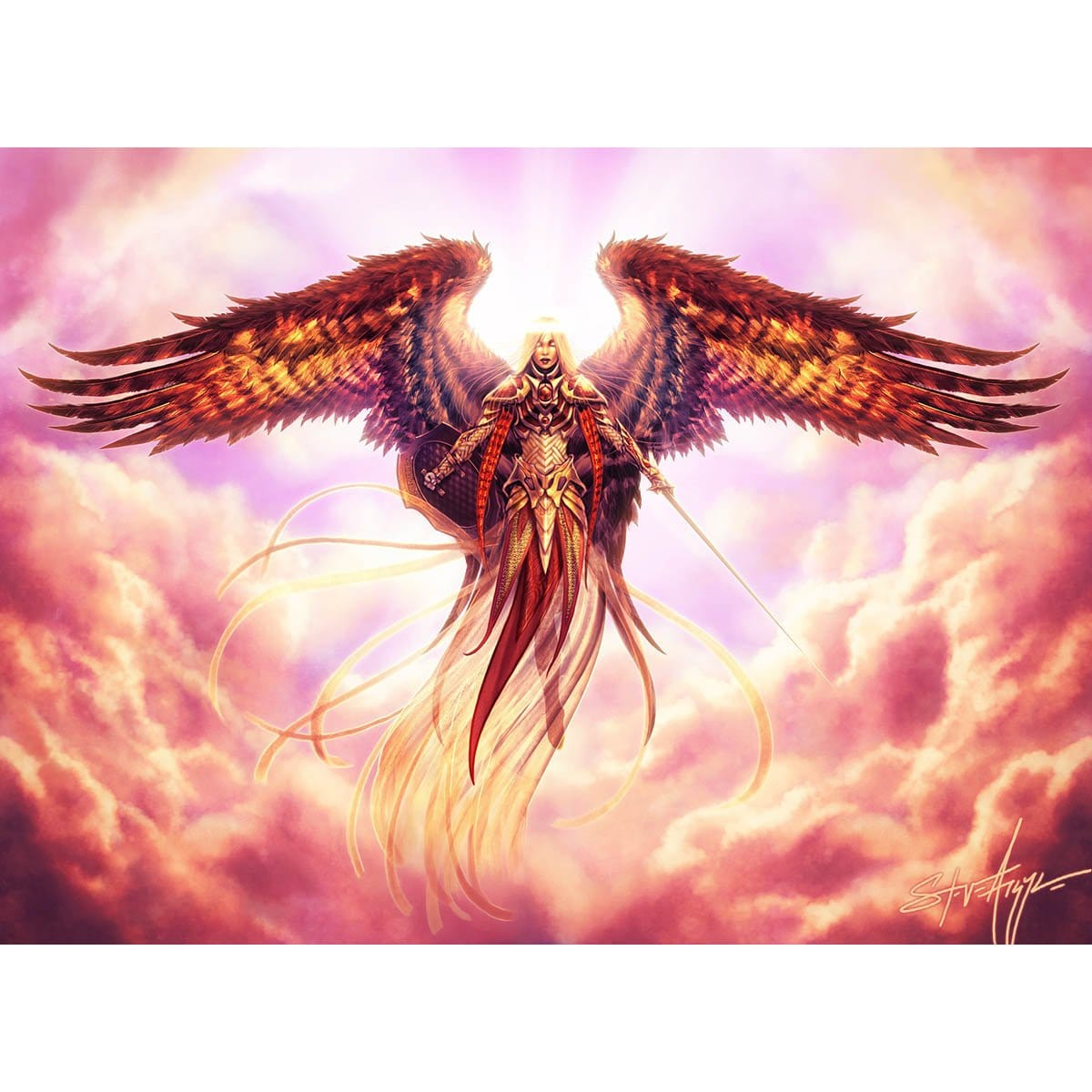 Angelic Arbiter Print - Print - Original Magic Art - Accessories for Magic the Gathering and other card games