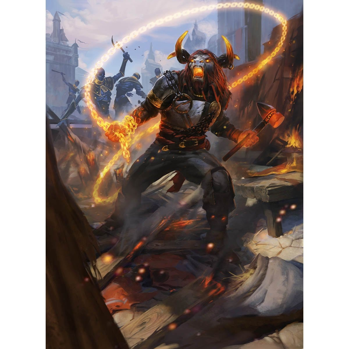 Angrath, Captain of Chaos Print - Print - Original Magic Art - Accessories for Magic the Gathering and other card games
