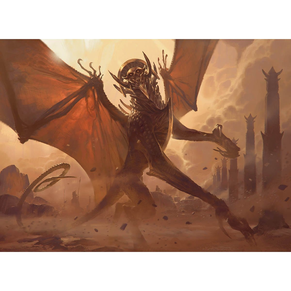 Archfiend of Ifnir Print - Print - Original Magic Art - Accessories for Magic the Gathering and other card games